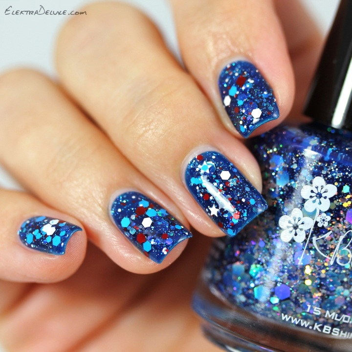 KBShimmer Wave The Flag & I Got A Crush On Blue