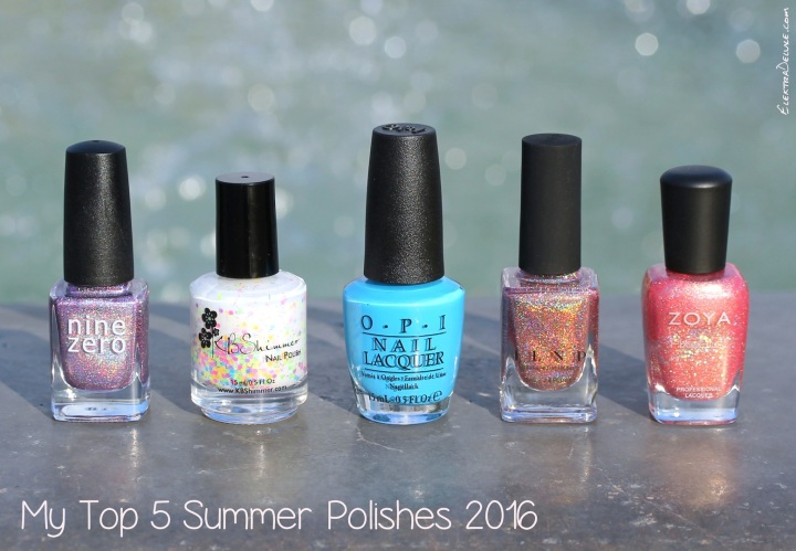 Nine Zero Lacquer June 2016, KBShimmer Neon Me, OPI Fearlessly Alice, ILNP That Other Girl, Zoya Zooey