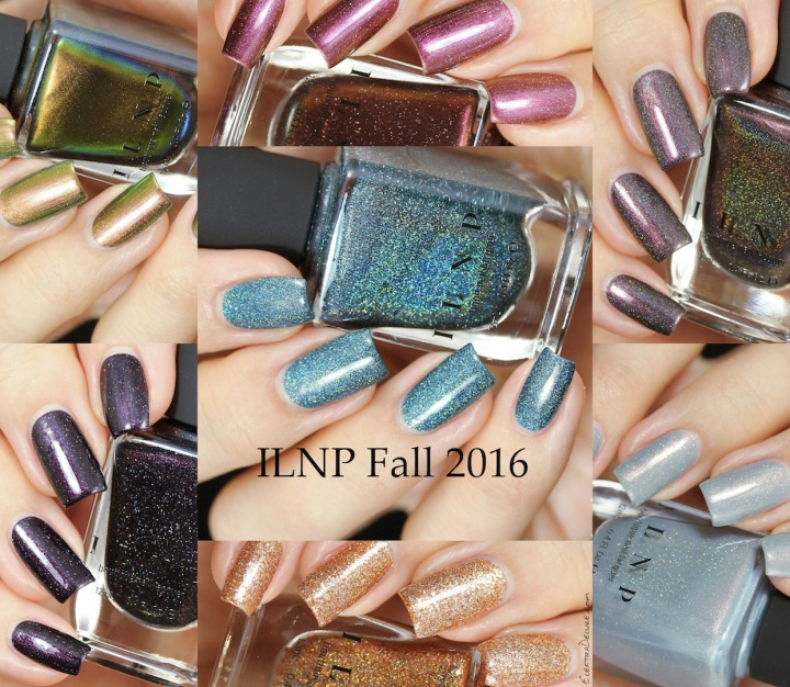 ILNP Fall Collection 2016: Chocolate Slate, Clever Girl, Extra Credit, Highline, Mon Amour, Sitting Fireside, The Harpist